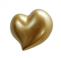 """Κρεμάστρα τοίχου """" Καρδιά Χρυσή"""""""