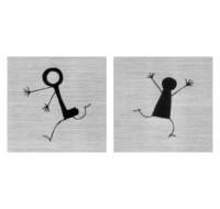 Σήματα WC Άνδρας - Γυναίκα 2
