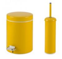 Σετ χαρτοδοχείο με πιγκάλ Κίτρινο
