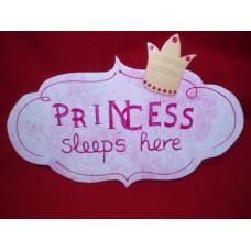 """Πινακίδα πόρτας """" PRINCESS"""""""